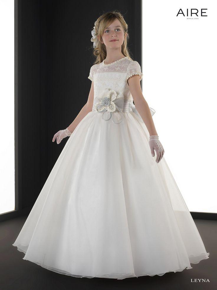 Vestido de comunión colección Aire Barcelona LEYNA, todos los vestidos en Odet Saüc, tu tienda de vestidos de novias, comunión, fiesta... al mejor precio