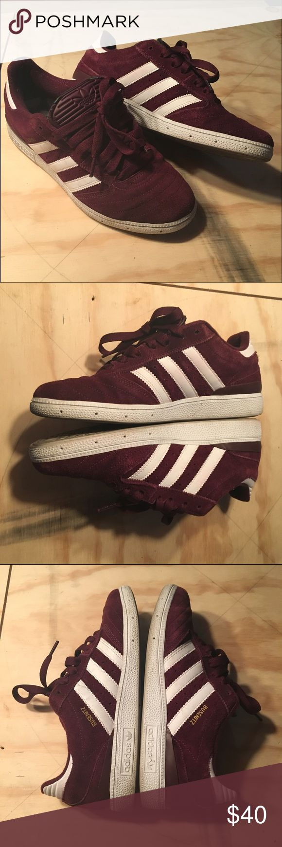 Men's Adidas Busenitz Wine/Burgundy-Gently worn (w/box & alternate laces) Adidas Shoes Sneakers