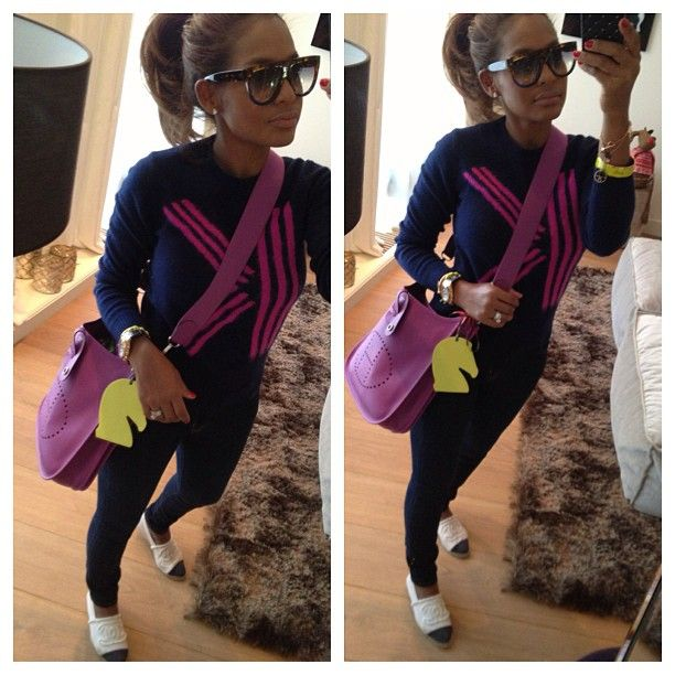 #ShareIG Outfit post #kenzo sweater #jbrand jeans #chanel espadrilles #hermes bag #celine sunnies ✨✨✨