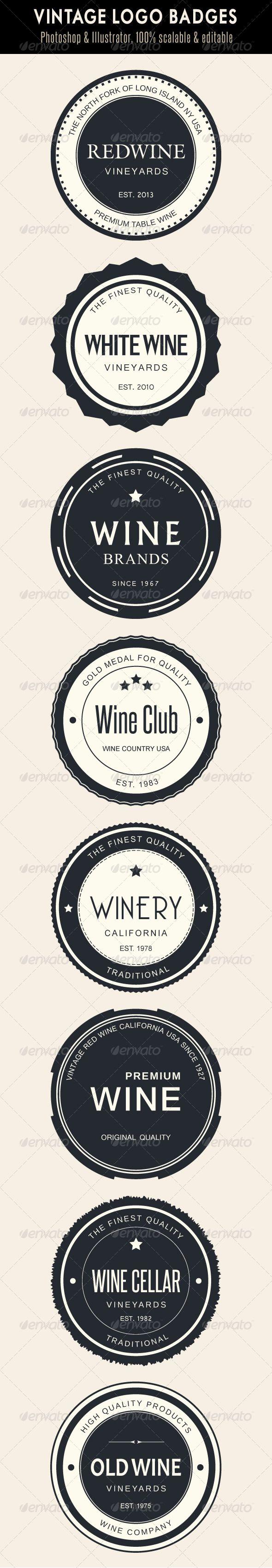 Vintage Logo Badges  - Badges & Stickers Web Elements Download here: https://graphicriver.net/item/vintage-logo-badges-/4116024?ref=alena994