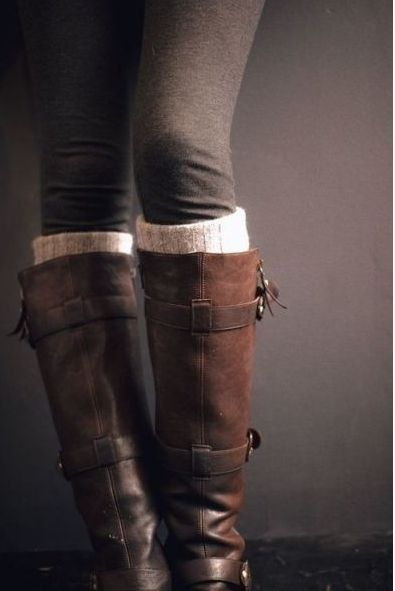 Boots as necessary as pumpkins by your door! www.mysoulfulhome.com