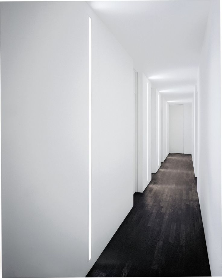 Wall-mounted Linear lighting profile for fluorescent lamps SLOT by FontanaArte design David Chipperfield