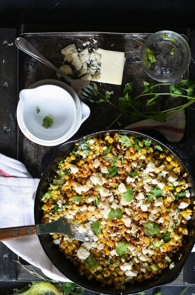 Skillet Mexican Street Corn | Fork Vs Spoon