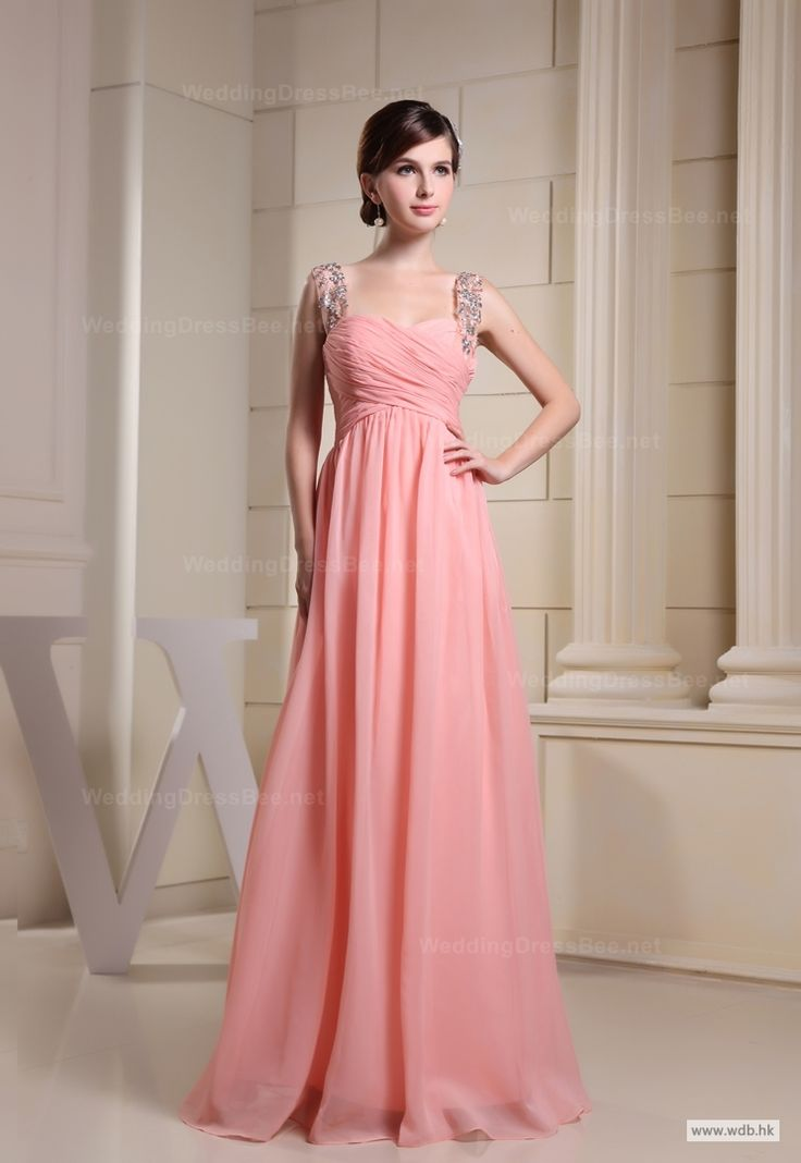 junior bridesmaid dresses Charming Ruched Top with Beading Straps Dress $138.98