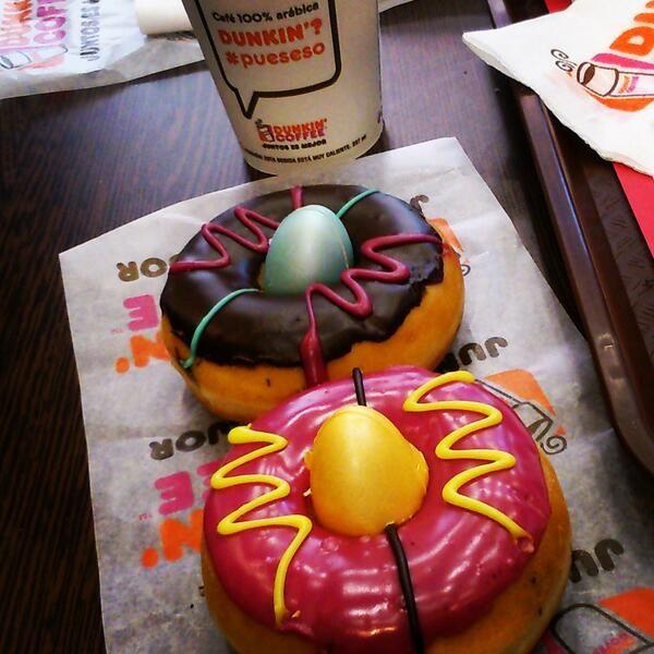 Dunkins de Pascua edición especial Semana Santa de Dunkin' Coffee.