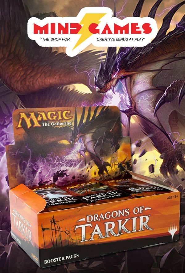 Magic: The Gathering Dragons of Tarkir Booster Box includes a fully-sealed box containing 36 Dragons of Tarkir booster packs. Each booster pack includes 15 cards to add to your collection—and you can expect one of those 15 to be a rare or mythic rare. Some packs even contain a premium foil card!  If you wish to purchase single booster packs, please visit one of our store locations.