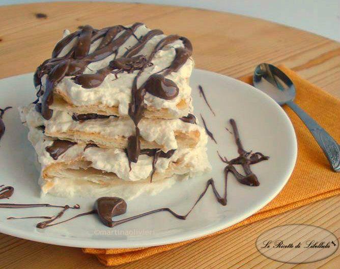 Ricetta della millefoglie mascarpone e Nutella, Un dolce molto goloso e facile da realizzare.