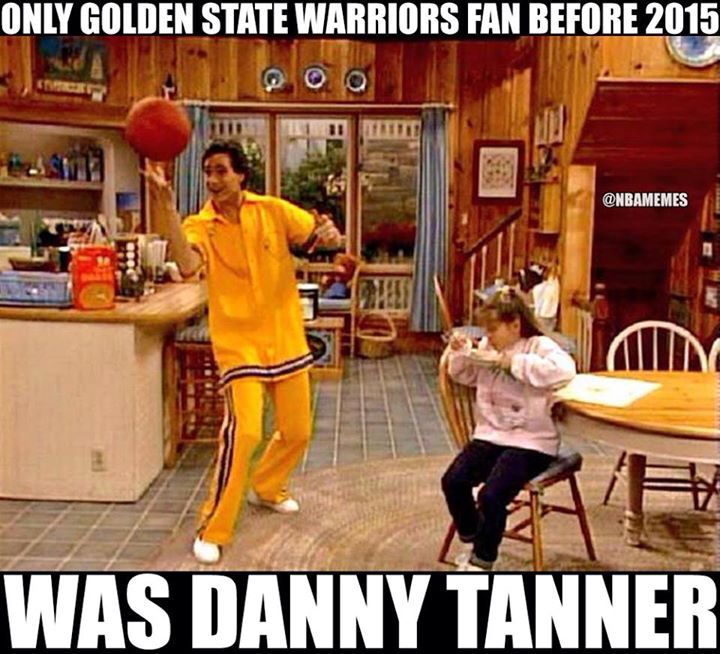 LOL a true golden state warriors fan