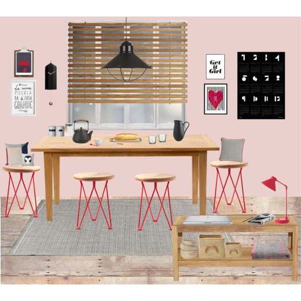 let's have breakfast by chrylou on Polyvore featuring interior, interiors, interior design, home, home decor, interior decorating, Laura Ashley, Toast, BOBBY and KAS