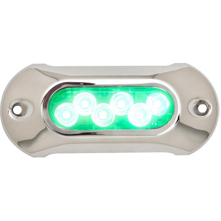 Attwood Light Armor Underwater LED Light - 6 LEDs - Green [65UW06G-7]
