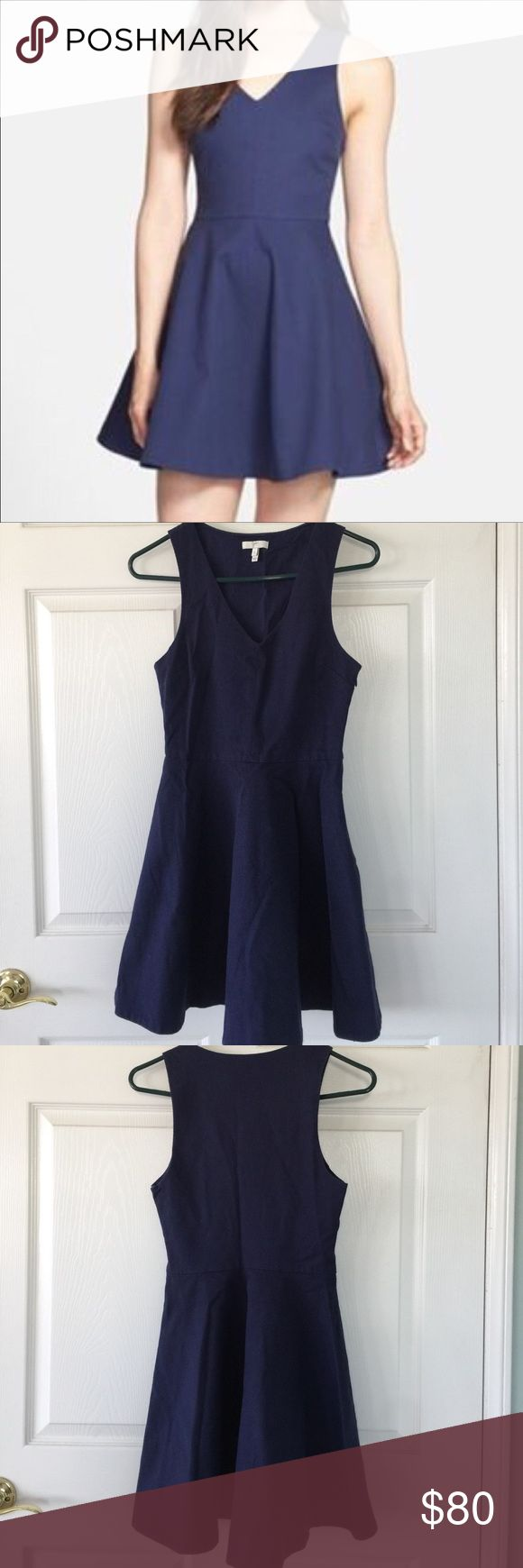 """Joie Norton Dress Love love love this only its too small in the chest for me :( it's a gorgeous Joie dress in navy blue.  Fabric is textured with side zip closure and is approx  32 1/2"""" long and 15 1/2"""" across the chest Joie Dresses"""