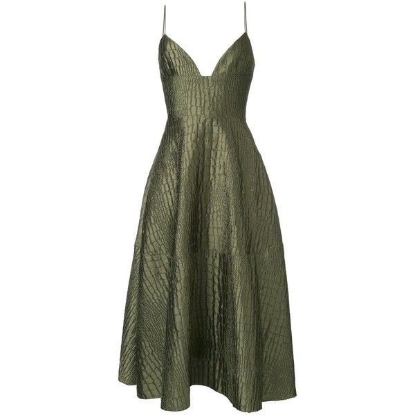 Alex Perry 'La Verne' dress ($1,795) ❤ liked on Polyvore featuring dresses, green, green dress, alex perry and alex perry dresses