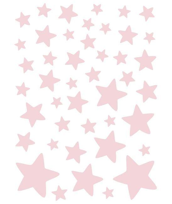 Sterretjes Zacht Roze - Muursticker | Sterren | Gras onder je voeten | Lilipinso | Sterren | Kinderkamer | #kidsroom