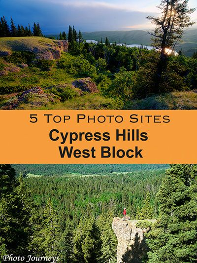 Discover our 5 favorite places to photograph in the West Block of Cypress Hills Interprovincial Park, Saskatchewan. Posting on our blog Photojourneys.ca