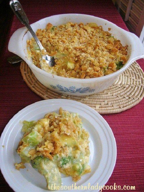 Easy Broccoli Cheese Casserole Velveeta-2473