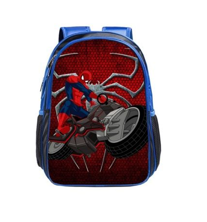 Children School Backpack with Spiderman PVC Printing