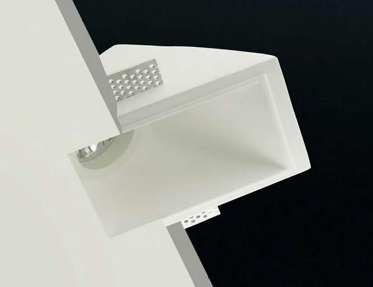 Lámpara de yeso bañador de pared #decoracion #iluminacion #interiorismo #lamparas