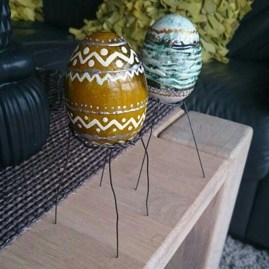 Påske, egg, ståltråd,  keramikk, easter, diy