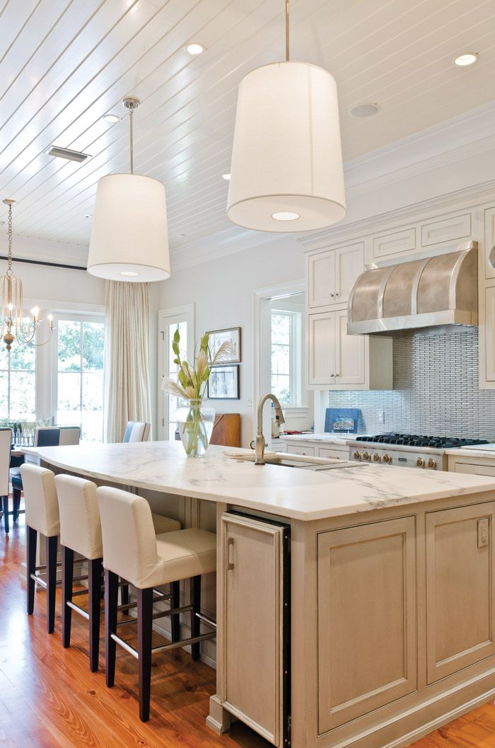 Customized kitchen with large island and eat-in breakfast area