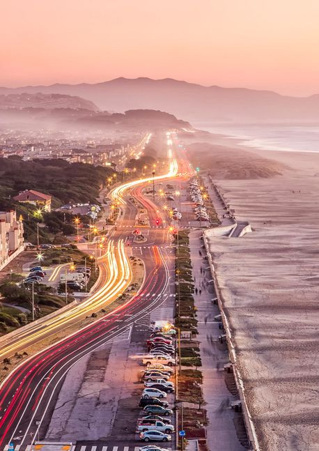 Ocean Beach Drive, San Francisco, California, USA