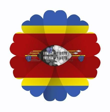 illustration of flower Flag Swaziland photo