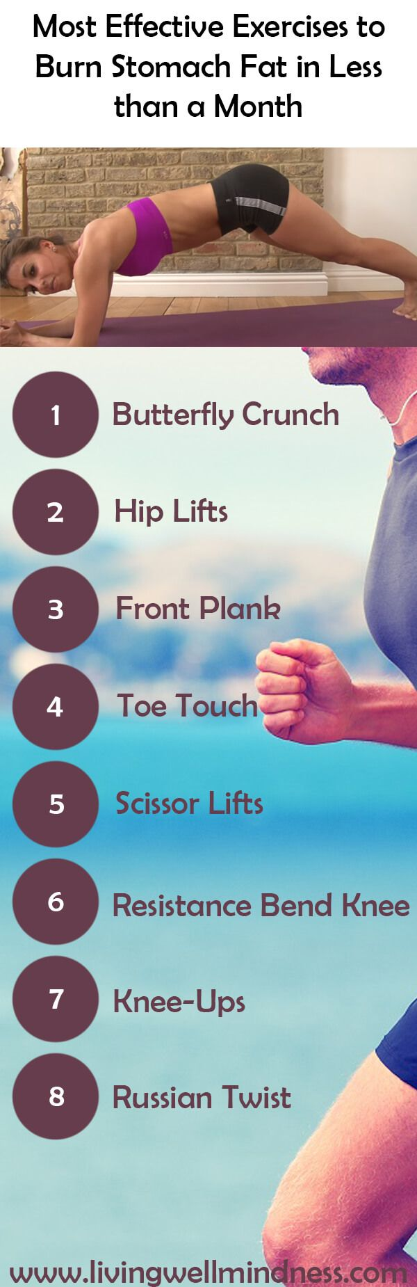 Most Effective Exercises to Burn Stomach Fat in Less than a Month - Living Wellmindness https://www.musclesaurus.com/flat-stomach-exercises/