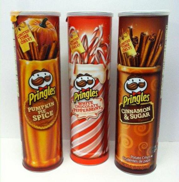 New Pringles Flavors: Pumpkin Pie, White Chocolate Peppermint, and Cinnamon and Sugar