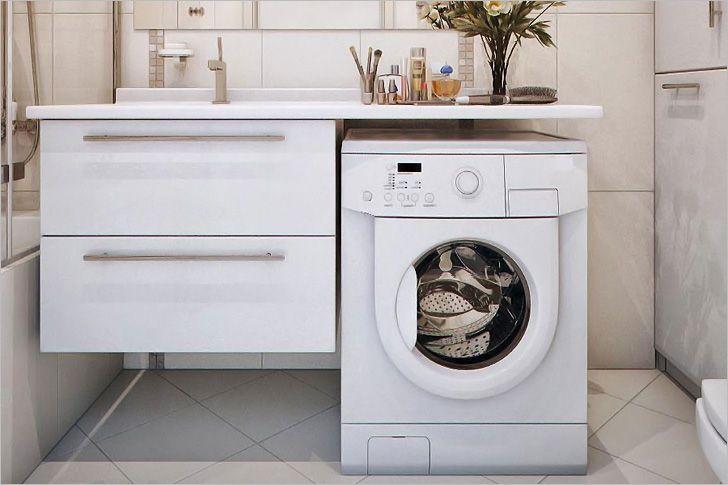 Картинки по запросу стиральная машина под столешницу в ванной