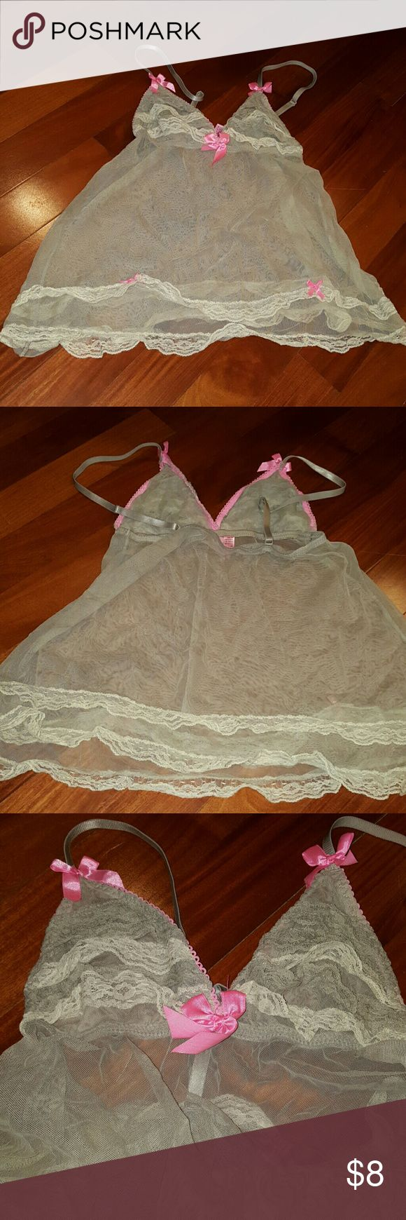 NWT SEXY LACE CHEMISE PANTIES NIGHTY PINK BEIGE L new with tags Pink and beige sexy lace chemise slip nighty with matching panties, size large. Intimates & Sleepwear Chemises & Slips