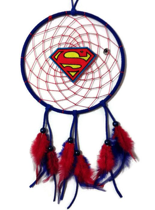 Handmade Superman Dream Catcher by PeyoteWayDesign on Etsy, $24.99