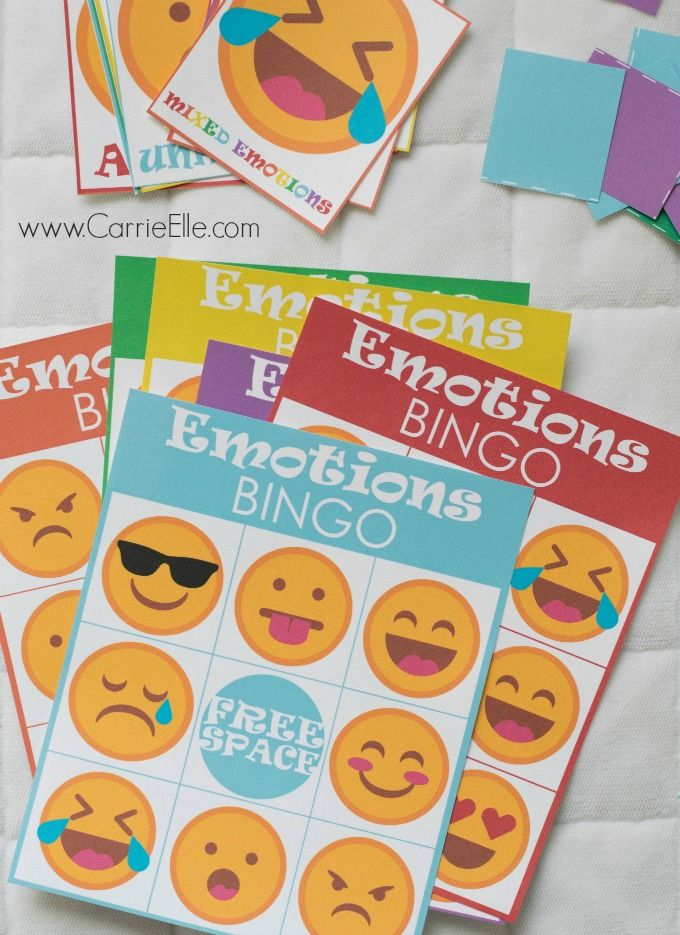 Looking for free printable kids games? Little ones will love this Emotions Bingo inspired by Inside Out!