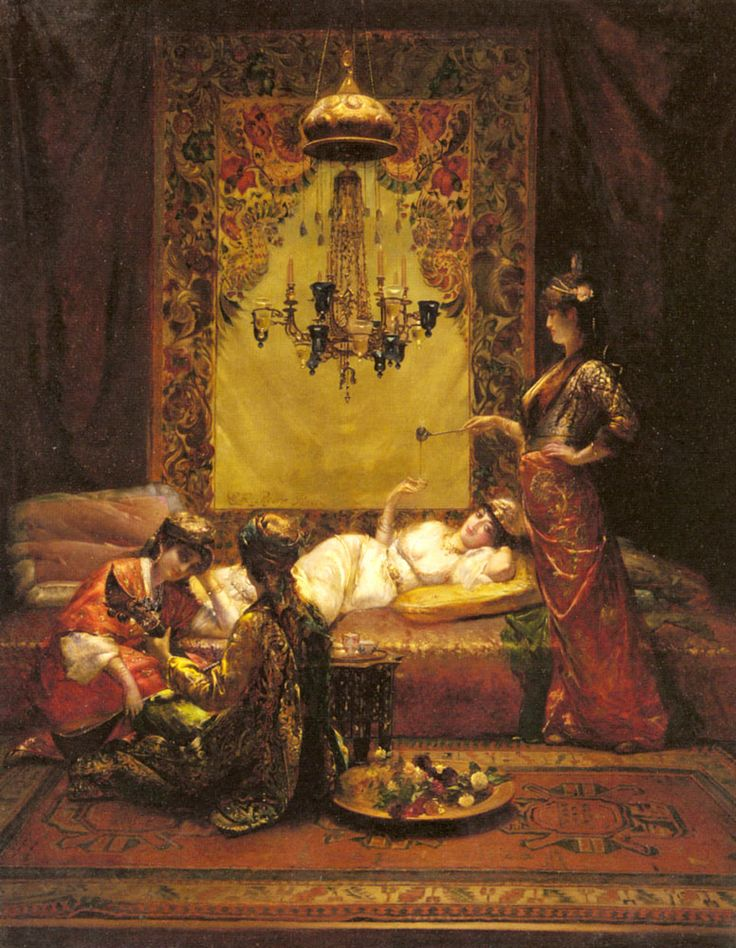 """""""In the Harem"""" by Edouard Frederic Wilhelm Richter (1844-1913)"""