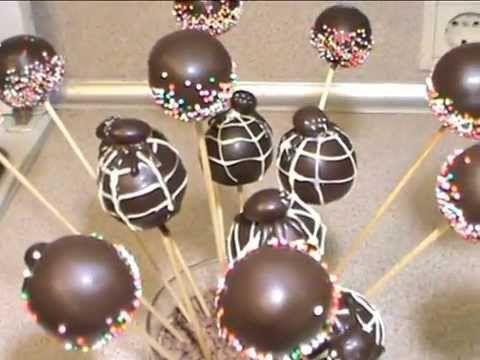 Такие пирожные на палочке очень нравятся детям. Эти кейкпопсы я делала на День Рождения своего сына, который был в стиле Человека паука, поэтому половина из ...