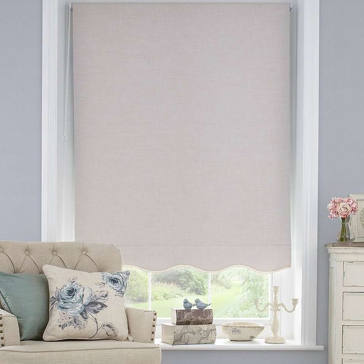 Lace Trim Blackout Roller Blind Dunelm Curtains