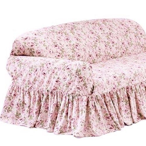 Strange Rachel Ashwell Loveseat Slipcover Rosalie Pink Floral Shabby Pdpeps Interior Chair Design Pdpepsorg