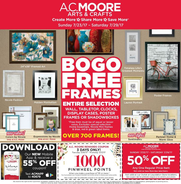 AC Moore Weekly Ad July 23 - 29, 2017 - http://www.olcatalog.com/home-garden/ac-moore-weekly-ad.html