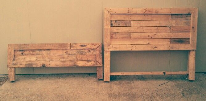 New head and footboards made from pallets i made