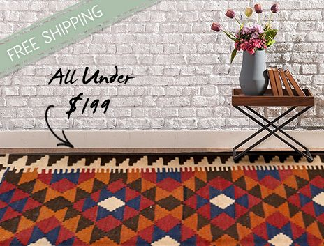 Tribal Kelims Under $199 on THEHOME.COM.AU