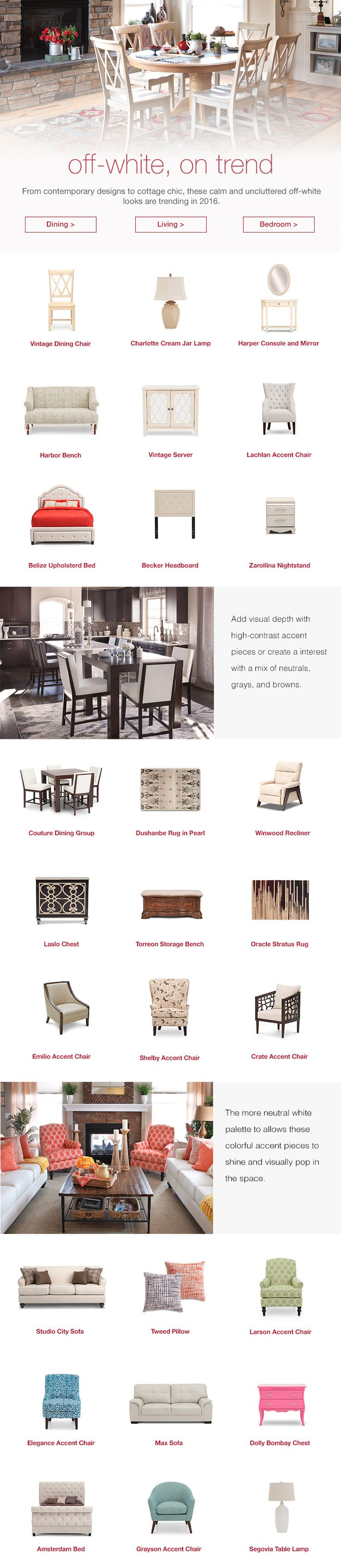 Off White Is On Trend For 2016 | Www.FurnitureRow.com