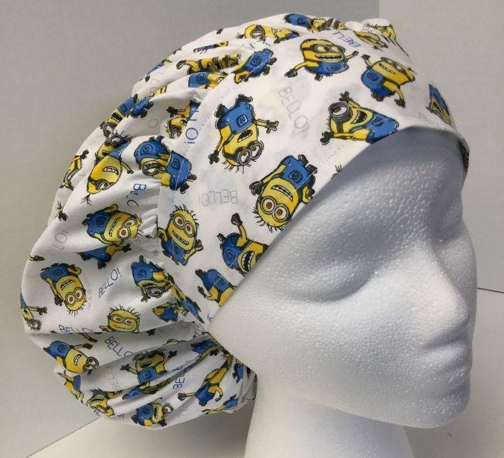 Minion Size: Large Medical Bouffant OR Scrub Cap Surgery Hat #Handmade