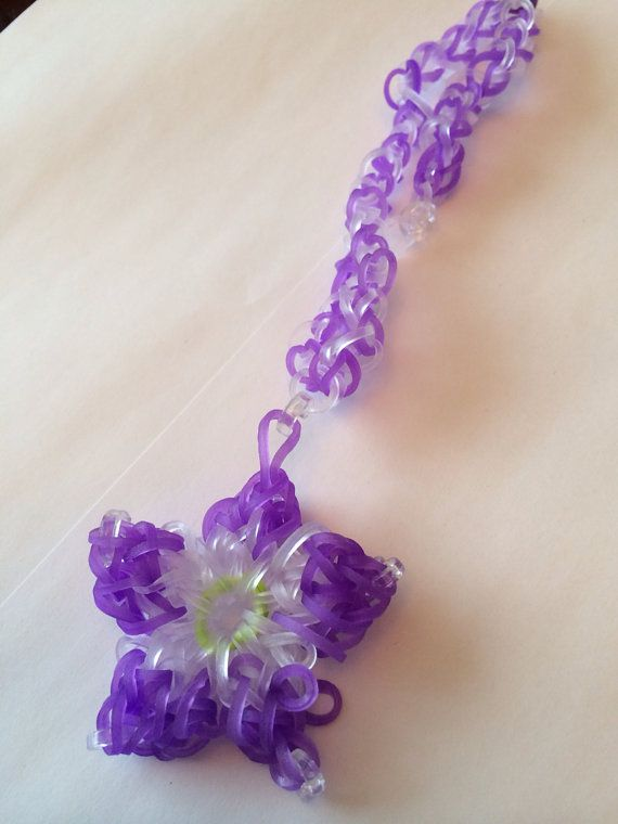 Loom flower necklace made to order on Etsy, $9.99 CAD