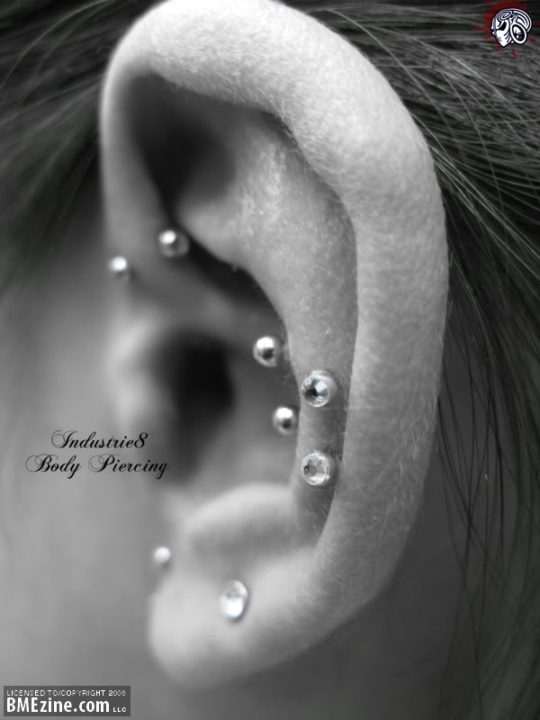 """going to get the """"snug"""" piercing but three in a row not two."""