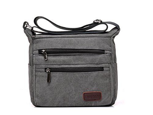 New Trending Cross Body Bags: Casual Canvas Zipper Single Adjustable Strap Shoulder Bags Messenger Crossbody Handbags (Gray). Casual Canvas Zipper Single Adjustable Strap Shoulder Bags Messenger Crossbody Handbags (Gray)   Special Offer: $18.99      166 Reviews Material: Canvas Color: Khaki/Blue/Green/Black/Coffee/Gray Dimensions: Height-8.27″/21CM Length-9.45″/24CM Depth-3.94″/10CM Weight-0.38KG...