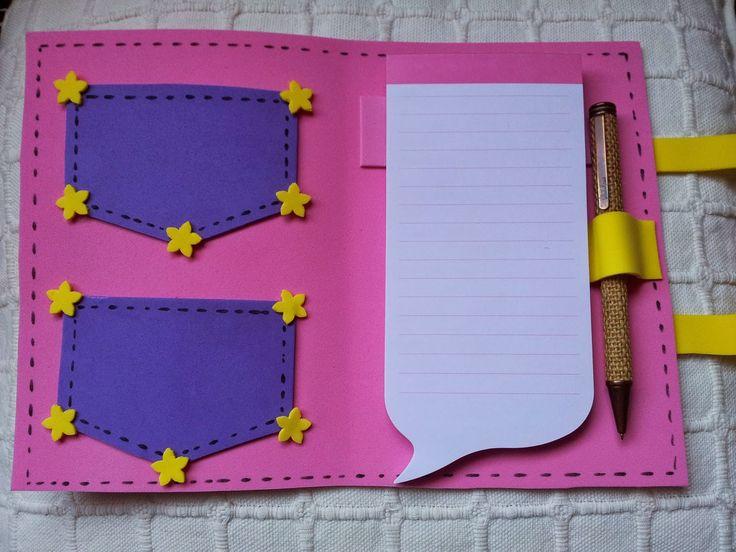 MENKAR COMPLEMENTOS: Para hacer con niñ@s: una funda de libreta