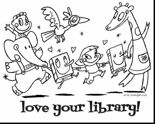 Library Rules Coloring Pages Halloweencoloringpages Library Rules