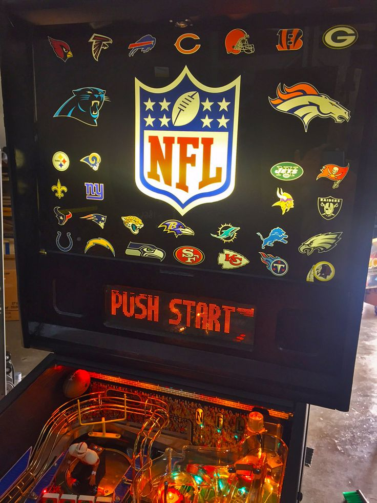 NFL Pinball is a very rare and limited edition pinball produced by Stern Pinball. 19 different versions of NFL Football were made, representing most of the major NFL franchises.