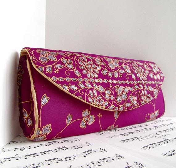 creative and so elegant!-  Indian Sari Clutch Purse