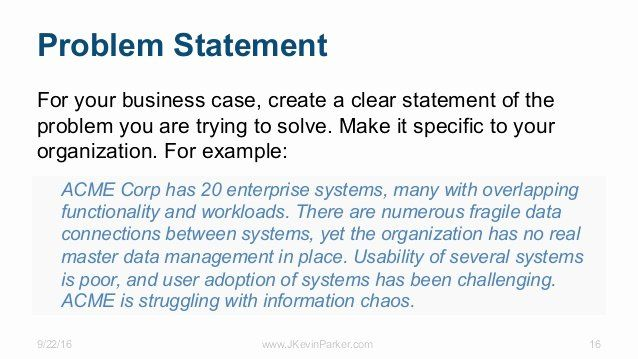 How To Write A Problem Statement Problem Statement Statement Template Writing