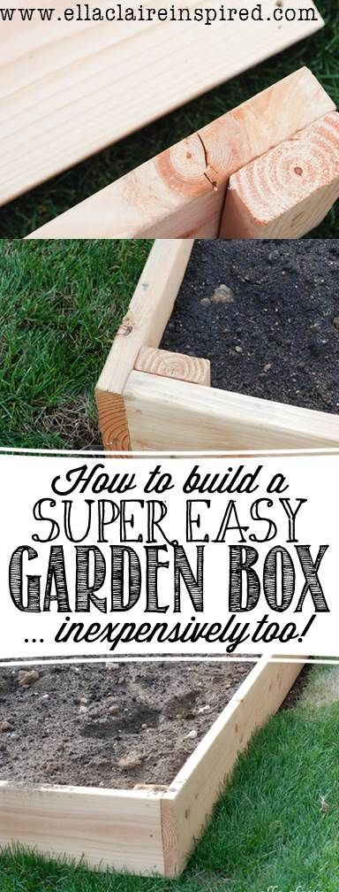 Easy and Inexpensive DIY Garden Box Project by Ella Claire