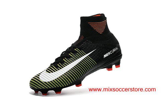 2017 Nike Mercurial Superfly V FG Black Purple Fluorescent Green Football Boots